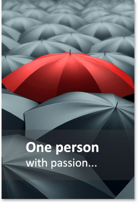 One person with passion...